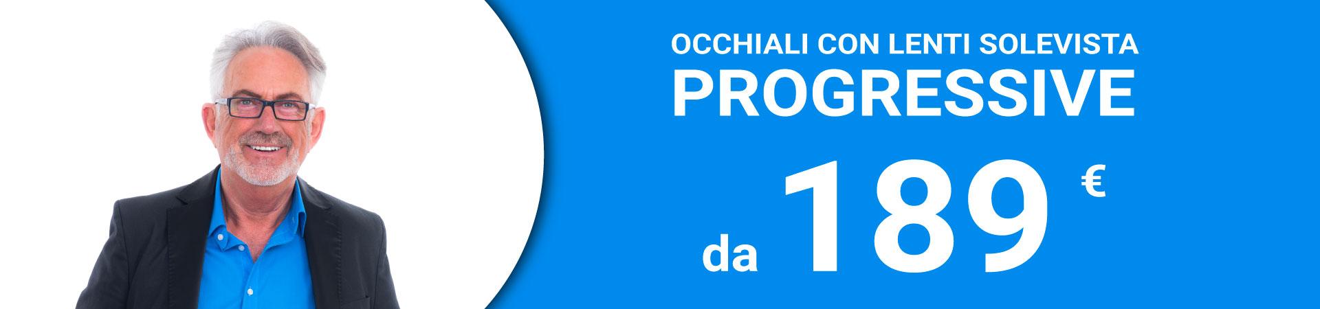 Promozione occhiali progressivi da 189€